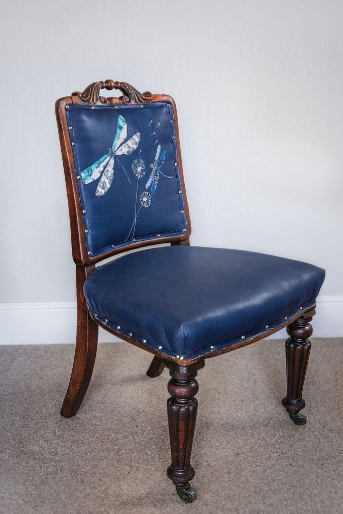 Dragonfly chair with unique applique design