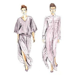 Daks Spring Summer 2015 Collection, watercolour and ink (c) Ella Johnston