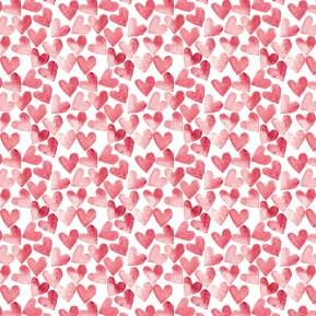 Red Heart Pattern (c) Ella Johnston