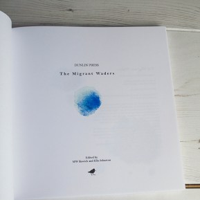 Water drops illustration, The Migrant Waders, Published by Dunlin Press