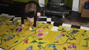 Behang schilderen a la Frans Hals museum