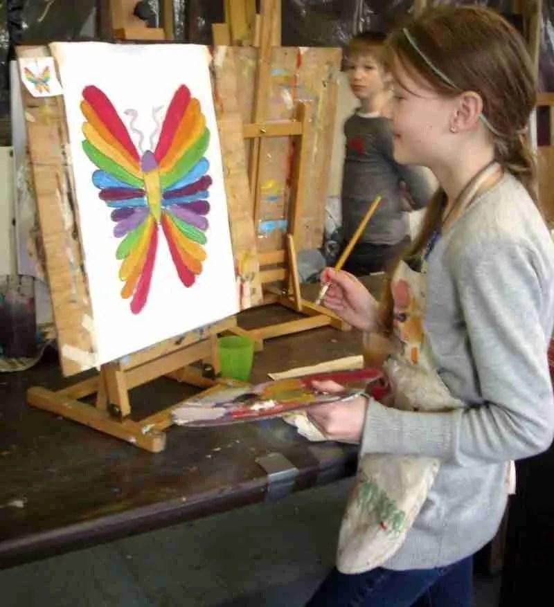 kinderpartij Wies schilderles atelier #Haarlem
