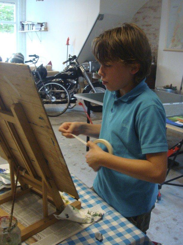 Schilderlessen foto's atelier #Haarlem