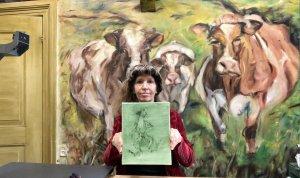 Still uit Art Storytelling 'Groene kikker en zelf olieverf maken'