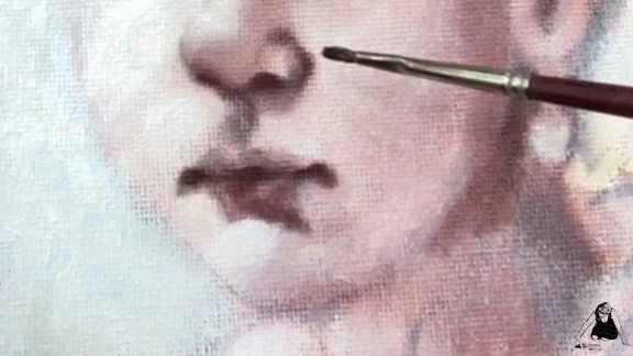 #6 Portret van het Meisje de onderschildering deel 2