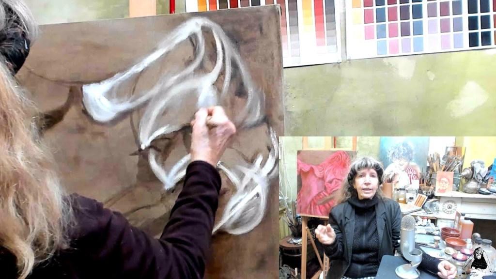 Schilderles video serie Witte kleding schilderen als de Oude Meesters, Ella Looise