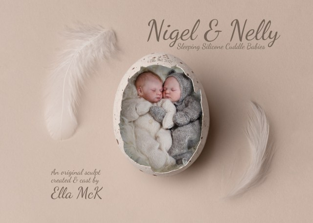 Silicone Cuddle baby doll unpainted kit blank micro preemie nigel and nelly