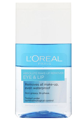 Desmaquillante de ojos y labios Absolute Eye and Lip Make-Up Remover de L'Oreal Paris