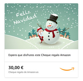 Cheque regalo de amazon