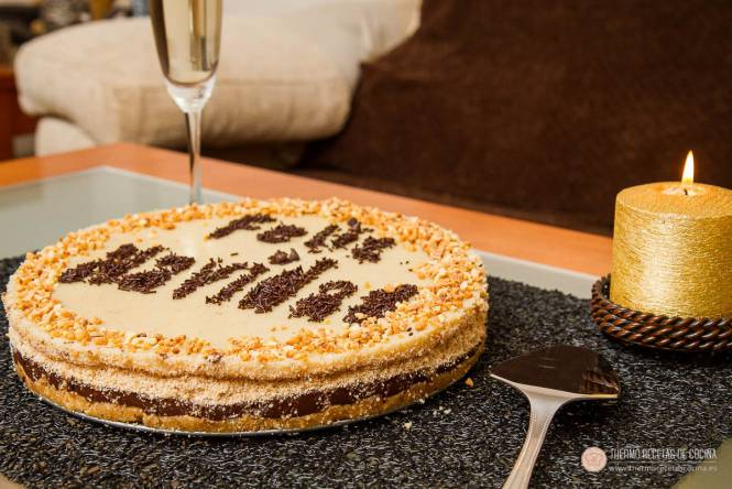 receta de tarta de natillas y galletas con Thermomix