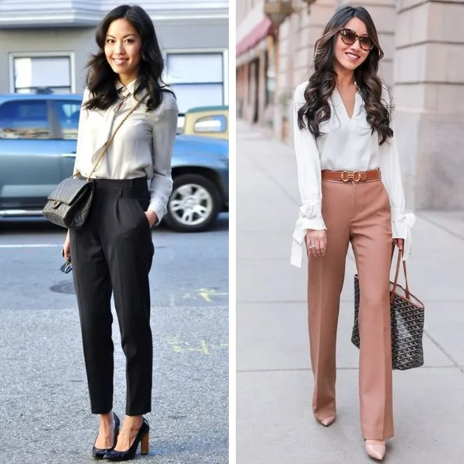 estilo business casual con pantalones