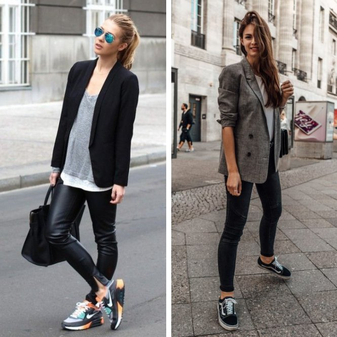 looks con zapatillas casual chic