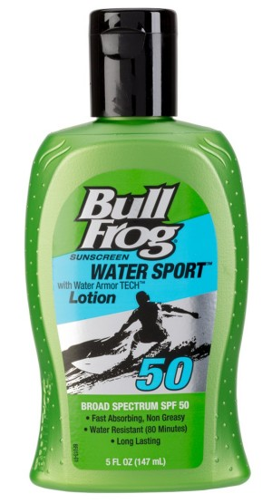 Sunscreen Water Sport SPF 50 de Bull Frog