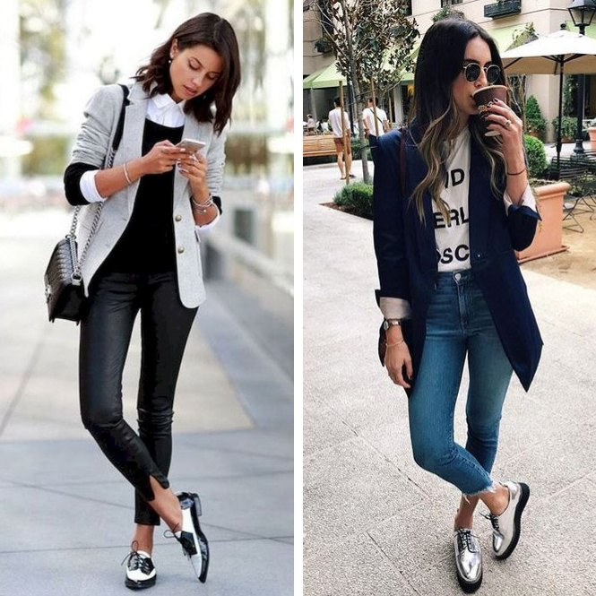 zapatos Oxford con blazer