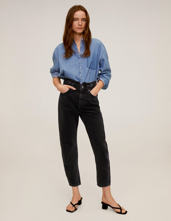 jeans slouchy colores oscuros