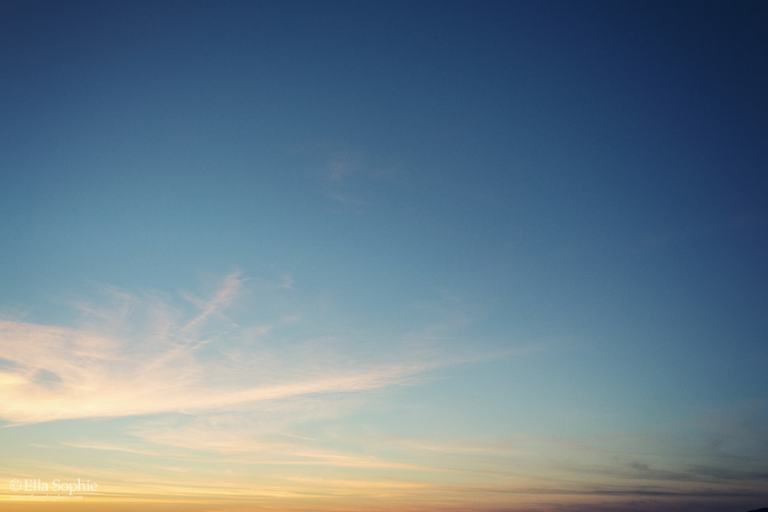 Calm sunset sky, growing pains, personal growth. by Ella Sophie
