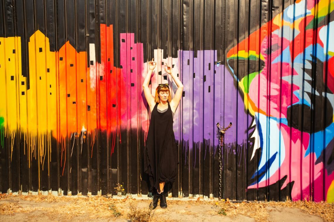 Bay Area street murals, photographed by Ella Sophie portrait photographer