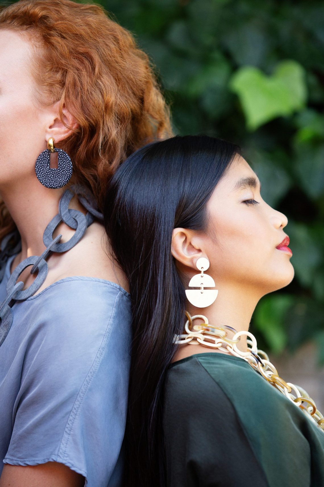 Earrings and necklace jewelry lifestyle photographer. San Francisco photographers Ella Sophie