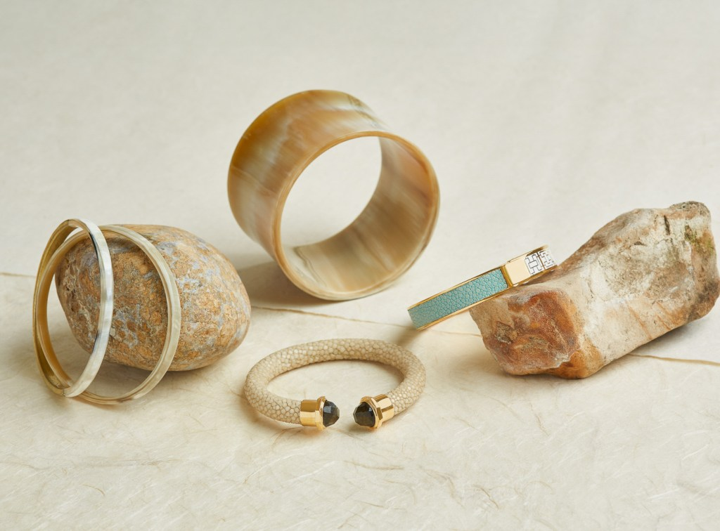 Natural stone and earth texture still life photography of Vivo bracelets by Oakland Photographer
