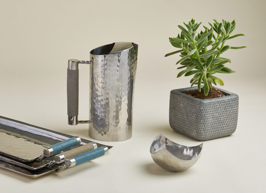 Hammered metal homegoods product photography by Ella Sophie, San Francisco Product photographers