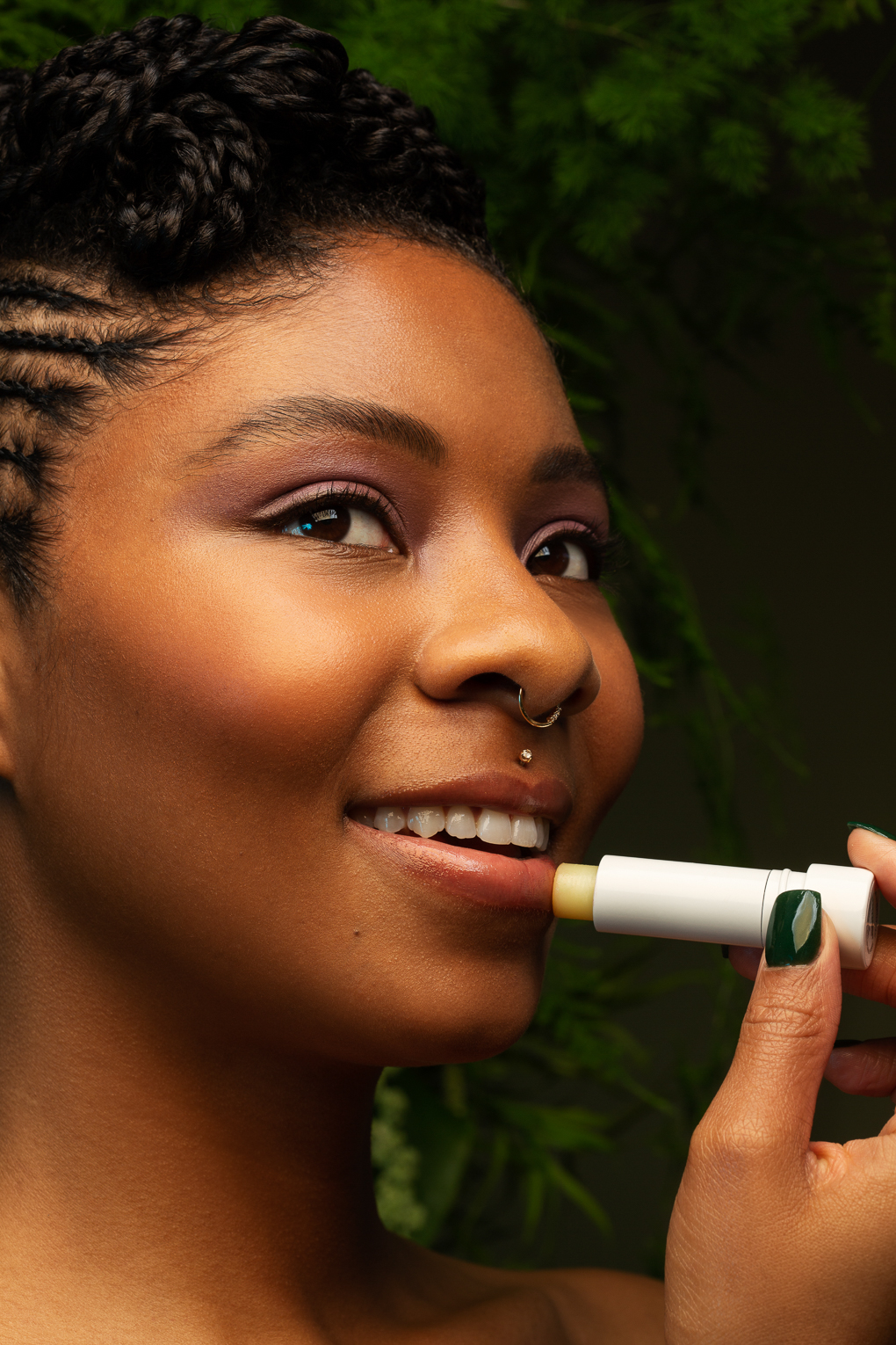Beauty portrait of black woman with glowing skin by San Francisco woman photographers Ella Sophie