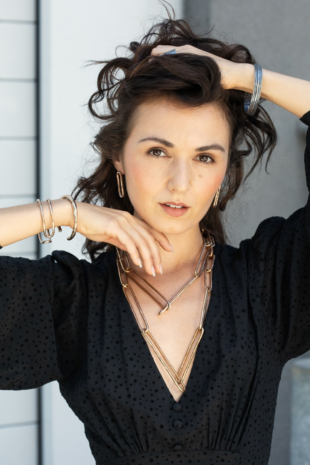 Jewelry photoshoot with models Zoe West, by SF Bay Area Photographer Ella Sophie