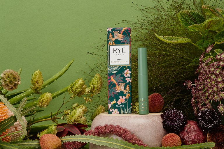 Still Life product photography for San Francisco bay area brand Rye Beauty by photographer Ella Sophie. Still life with green textures from plants