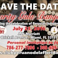 El Club Peruano de la Florida Invita al 39th Charity Gala Banquet