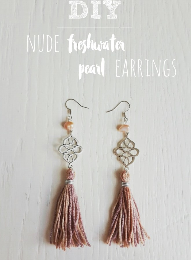 nude freshwater pearl earrings pin it