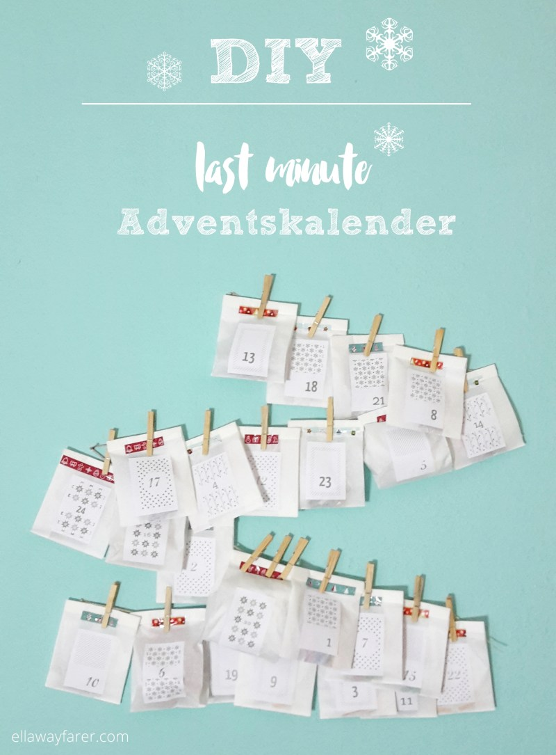 DIY | Last-Minute Advent Calendar | ellawayfarer.com