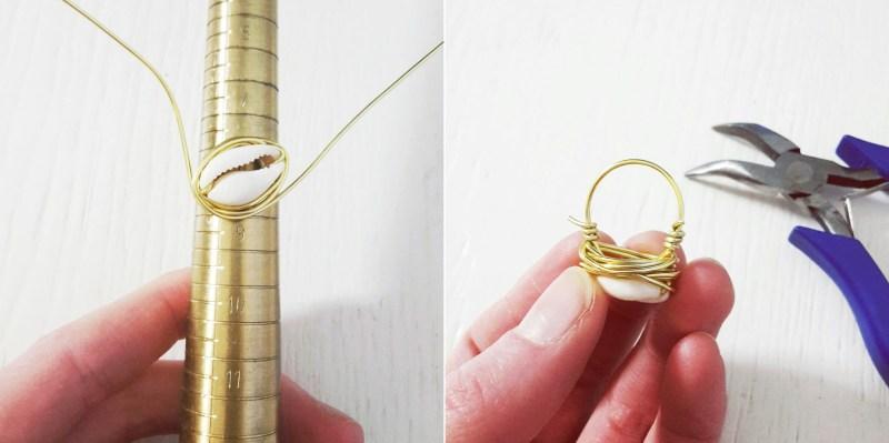 Kauri Ring mit Muschel ganz leicht selbermachen | DIY