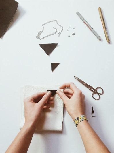 Geometrische Kette aus Leder selbermachen   Create yourself a merry little christmas