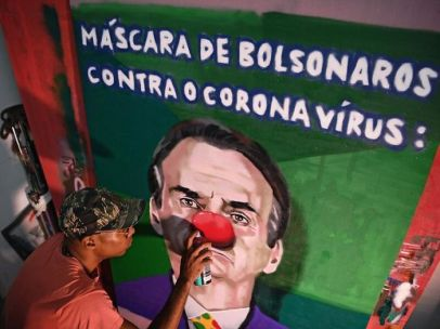graffiti del coronavirus bolsonaro brasil rio de janeiro