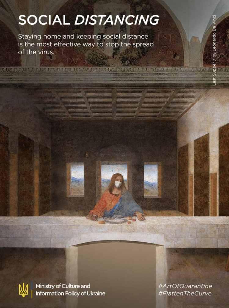 Leonardo Da Vinci, La última Cena coronavirus