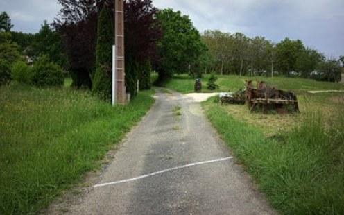 camino rural marcado con tiza