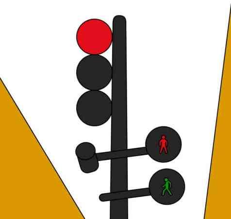 imagen vectorizada de un semaforo