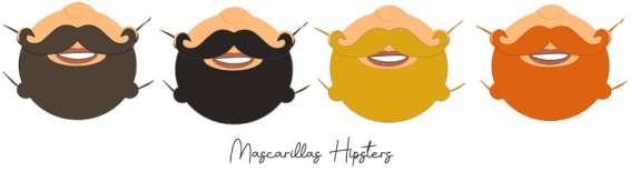 mascarillas para hipsters