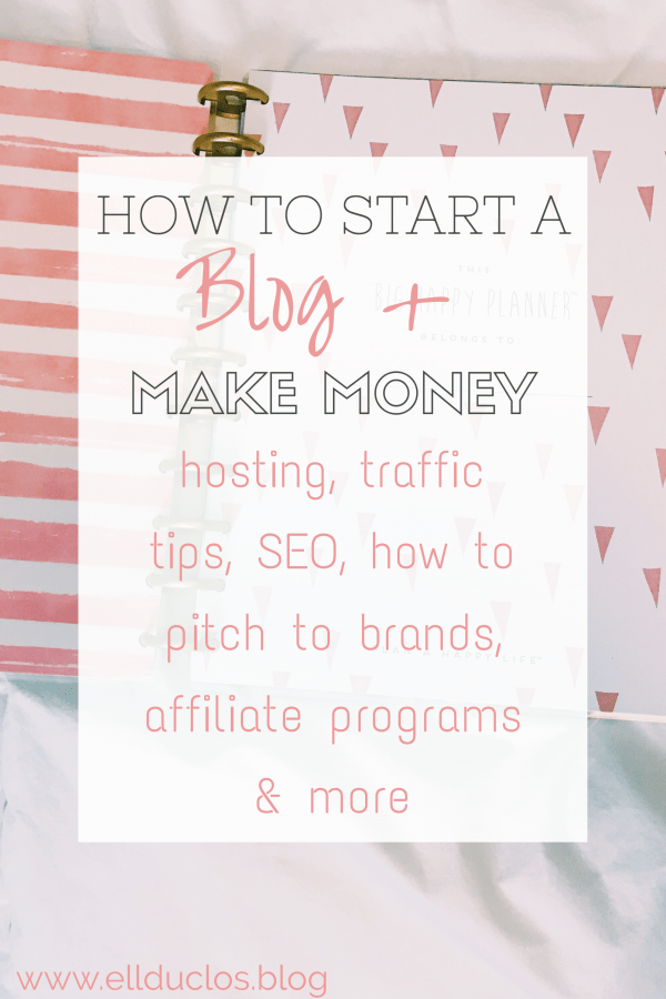 How to start a blog and make money