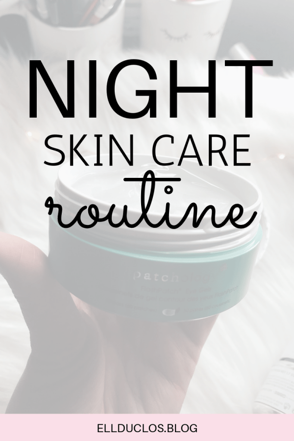 Night time skin care routine for a fall night.