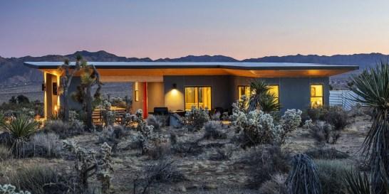 Μια μοντέρνα κατοικία γεμάτη μουσική στην ερημιά της στέπας Με αναφορές στη folk αμερικανική μουσική αυτή η μοντέρνα κατοικία στο Εθνικό Πάρκο Joshua Tree στην Καλιφόρνια μοιάζει με σκηνικό on the road ταινίας.