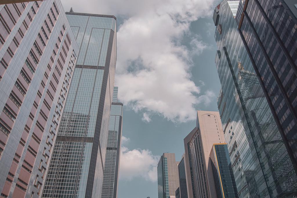 buildings in Lockhart Rd in Wan Chai Hong Kong