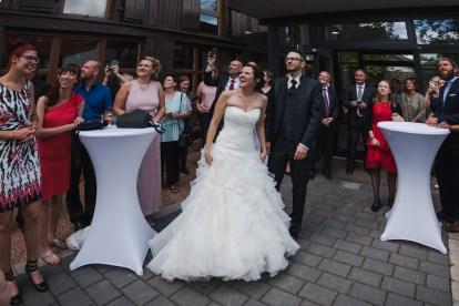 Hochzeit Sektempfang Luftballons