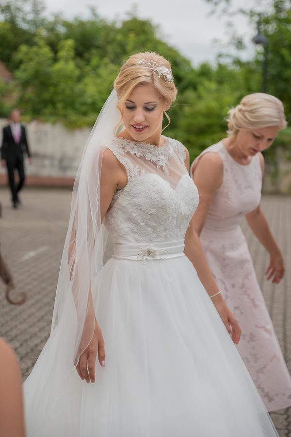 Hochzeit Ankunft Braut