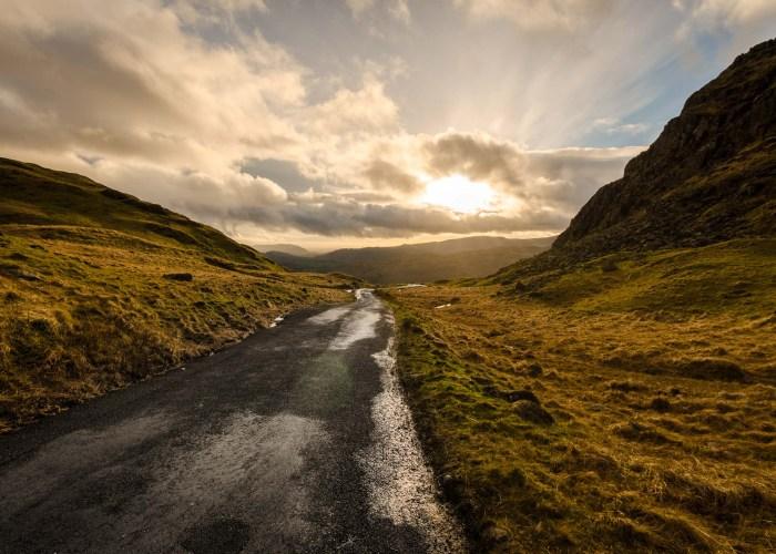 Sonne nach Regenschauer im Lake District