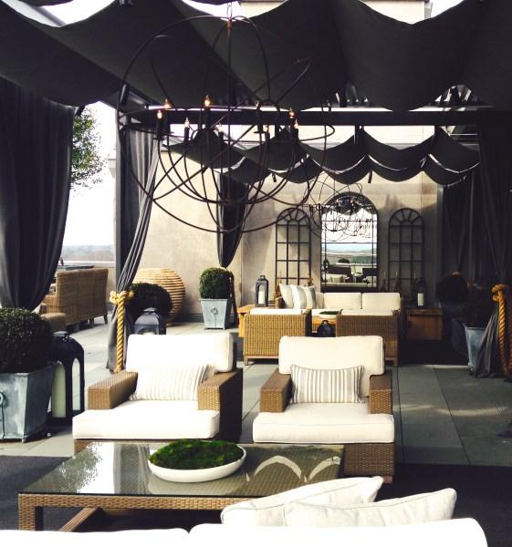 outdoor living rooms, restoration hardware, Elle C. Wolfe Interiors