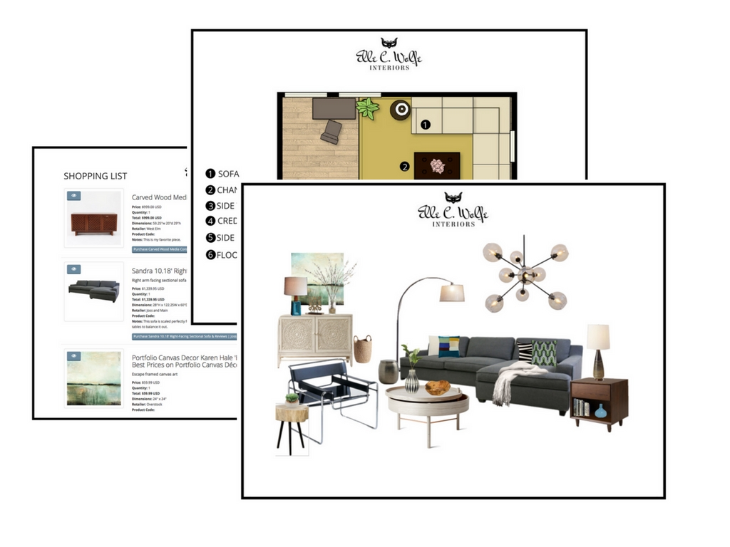 online design, virtual design, e-design services