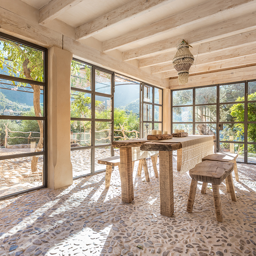 A Bohemian Winter Holiday Home In Mallorca ELLE