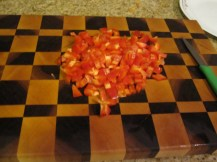 Special ingredient - chop one red pepper into ~ 1 cm pieces
