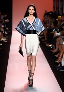 Herve-Leger-NYFW-2014-Blue-Kimono-Inspired
