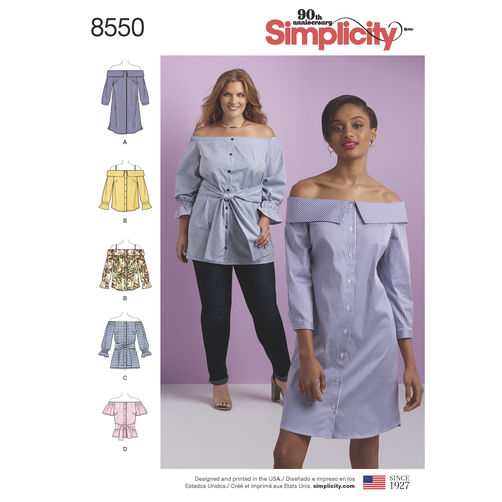 simplicity-off-shoulder-shirt-pattern-8550-envelope-front